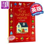 【中商原版】初学英语100词 英文原版 First Hundred Words in English 儿童英语 启蒙绘