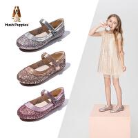 【3折价:143.7元】暇步士Hush Puppies童鞋中大童演出鞋春季女童时尚亮片皮鞋公主单鞋