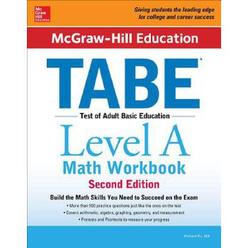 预订 McGraw-Hill Education Tabe Level a Math Workbook Second Edition [ISBN:9781259587825] 美国发货无法退货 约五到八周到货