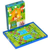 斗兽棋 先行者FORTHGOERH-2H-6折合磁性棋折叠式儿童益智斗兽棋