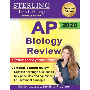 预订 Sterling Test Prep AP Biology Review: Complete Content Review [ISBN:9781947556300] 美国发货无法退货 约五到八周到货