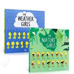 【顺丰包邮】英文原版2册 The nature Girls /The Weather Girls 自然女孩/天气女孩
