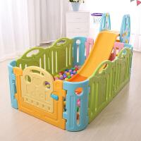 麦宝创玩 儿童乐园室内游戏围栏滑梯组合 宝宝安全栅栏家用婴儿爬行垫护栏
