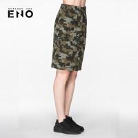BURANDOENO潮牌夏季迷彩短裙修身裙潮流显瘦半身裙E7SUW00005