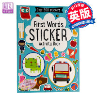 【中商原版】初学单词贴纸书 英文原版 First Words Sticker Book 趣味认知 宝宝英文单词学习带情
