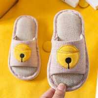 儿童亚麻拖鞋夏春秋室内女童男童家用防滑软底地板小孩宝宝凉拖鞋
