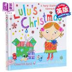 【中商原版】露露的圣诞节 英文原版 Lulu's Christmas 幼儿启蒙 精装触摸操作书 翻翻书 露露大明星系列
