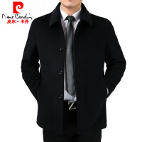 羊绒大衣男装加厚短款中老年风衣爸爸装中长款毛呢子外套1868