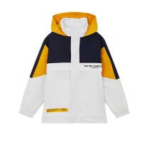 【1件3折到手价:110.7】361度童装儿童外套2021春季男童时尚梭织薄外套K52012611