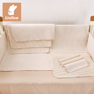 威尔贝鲁 婴儿保暖隔尿垫超大月经垫宝宝新生儿防水纯棉可洗尿垫