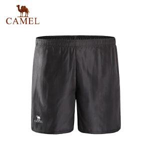 camel骆驼男款运动短裤 男款休闲跑步健身梭织快干短裤