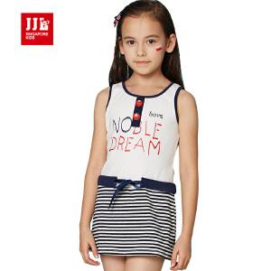 jjlkids季季乐童装女童夏季可爱短裙清凉透气背心连衣裙中大童薄款