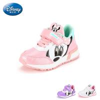 【99元任选2双】迪士尼童鞋女童休闲运动鞋儿童跑步鞋时尚炫酷(2-6岁可选)S731088