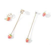 粉红娘娘(PINK EMPRESS)草莓耳钉女夏天清新长款耳环气质韩国无耳洞耳夹可爱百搭耳饰耳坠