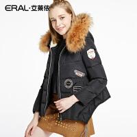 ERAL/艾莱依冬韩版修身时尚立领羽绒服加厚女短款连帽12010-EDAB