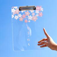 创意多功能文件夹板夹试卷档案资料夹小清新透明写字试卷文件夹子亚克力板夹
