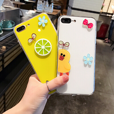 【支持礼品卡】夏日苹果7plus手机壳硅胶iphone6s个性创意6plus韩国卡通可爱女款 【支持礼品卡】