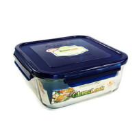 GLASS LOCK 三光云彩 韩国进口玻璃乐扣保鲜盒饭盒RP535 2600ml 颜色两种随机 SG313-40