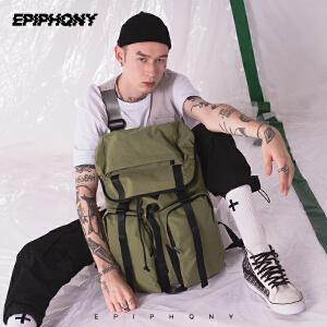 Epiphqny2018新款潮流时尚户外登山包原创日系撞色防水潮男双肩包
