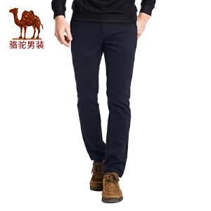 骆驼&熊猫联名系列男装 秋款时尚修身中腰商务休闲裤长裤
