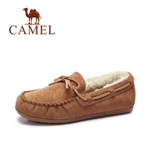 camel骆驼女鞋  豆豆鞋女棉鞋加厚保暖时尚平底孕妇鞋