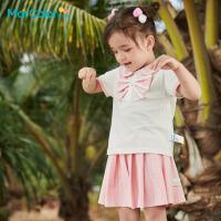 �R卡�吠��b2021年夏新品女童��可�z抗菌面料短袖短裙套�b