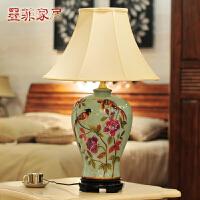 欧式大号陶瓷台灯 创意时尚现代客厅卧室床头结婚庆宜家装饰灯具