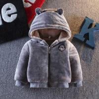 ??男宝宝1-3岁女童毛毛衣婴儿2018新款加绒加厚冬装外套 潮1029