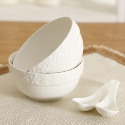 shunxiang 顺祥 陶瓷 健康瓷4.5英寸德加护边碗4件套