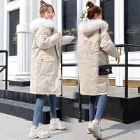 2019冬季孕后期韩版宽松大码棉袄外套孕妇冬装棉衣