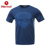 Marmot/土拨鼠户外运动春夏棉感速干吸湿排汗男士休闲短袖T恤