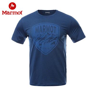 Marmot/土拨鼠户外运动春夏棉感速干吸湿排汗男士休闲短袖T恤 VIP专享96折