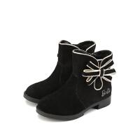 【99元任选2双】芭比童鞋女童靴子时尚短靴长靴 A32457 A32447 A32452 A32454 A32455