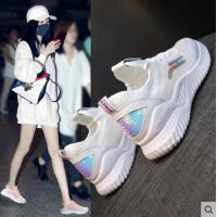 小白鞋女韩版休闲运动鞋女网红跑步鞋网面透气鞋