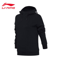 李宁卫衣女士2017新款运动生活系列套头衫长袖休闲上衣女装运动服AWDM708