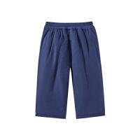 全棉时代藏青婴儿纱布厚款长裤66/44,1条装
