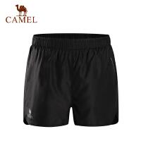 camel骆驼女款运动短裤 跑步健身瑜伽快干梭织短裤
