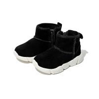 【159元任选2双】思加图童鞋女童雪地靴冬季保暖靴子男孩清仓