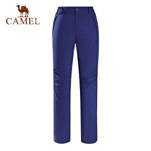 camel骆驼户外女款越野长裤 收边裤脚轻质防泼水越野裤