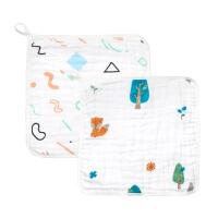 【加拿大童装】Gagou Tagou纯棉宝宝口水巾方巾 擦手巾小毛巾手帕巾