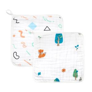 【夏季清仓 低至19元起】Gagou Tagou纯棉宝宝口水巾方巾 擦手巾小毛巾手帕巾
