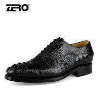 零度尚品 定制款皮鞋 手工鳄鱼皮商务正装皮鞋男鞋96027
