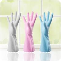 懿聚堂 日用厨房洗衣洗碗清洁家务手套防水波浪花边防滑家用手套