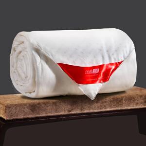 优雅100 蚕丝被子100%桑蚕丝 贡缎提花面料 冬季保暖被芯 白 色 2.2*2.4m(总重4.0斤,蚕丝净重2.8斤)