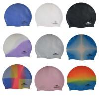 硅胶泳帽 撞色纯色硅胶帽 防水游泳帽