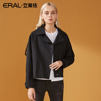 ERAL/艾莱依2018秋季新款西装领外套女时尚宽松上衣617062018