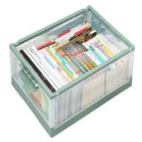 折�B收�{箱透明塑料整理盒家用有�w��箱�b��本的箱子��籍收�{神器