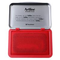 旗牌(Artline)日本旗牌雅丽EHJ-2 中号快干印台红色/蓝色/黑色印泥 纱布文具