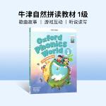进口英文原版Oxford Phonics World 1 牛津自然拼读,英文拼读规则学习教材 4-8岁