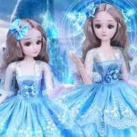 60厘米大号大礼盒黛蓝芭比洋娃娃套装女孩玩具公主儿童单个仿真